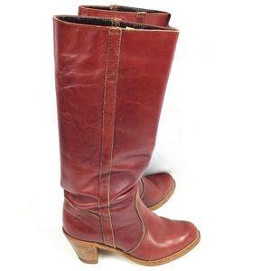 Dexter Vintage Mahogany Cowboys Heel Boots 8M